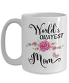 World's Okayest Mom Coffee Mug Tea Cup | Mother's Day Gift Idea