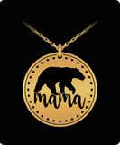 Mama Bear Necklace Gold