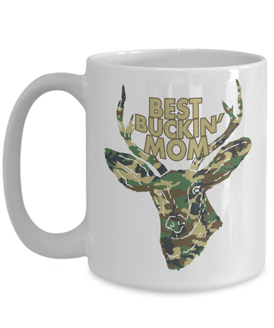 Best Buckin' Mom Funny Coffee Mug Tea Cup Deer Hunter Gifts