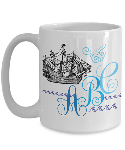 custom coffee mug for ocean lovers