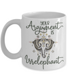 Your Argument Is Irrelephant Cute Funny Coffee Mug | Funny Gift Idea | Elephant Lover Gifts 11oz