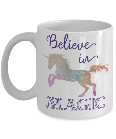 Believe in Magic Unicorn Coffee Mug