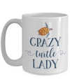 Crazy Turtle Lady Coffee Mug white