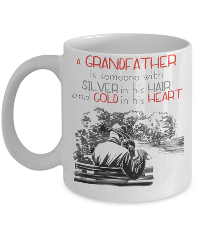 grandfather and granddaughter coffee mug