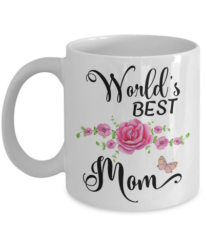 World's Best Mom Coffee Mug Tea Cup | Mother's Day Gift Idea