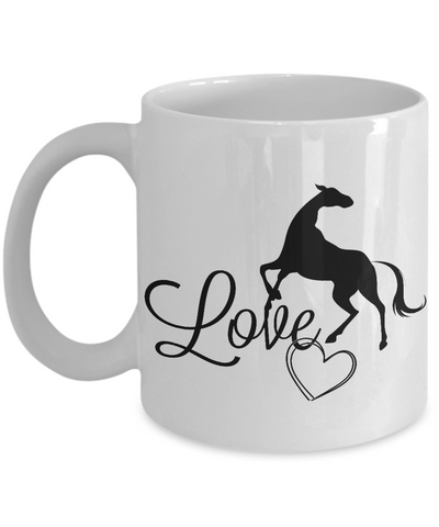 Horse Love Coffee Mug | Tea Cup | Horse Lover Gift Idea