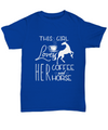 This Girl Loves Her Coffee and Her Horse T-Shirt for Horse Lovers/Owners