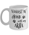 Namast'ay Home With My Akita Funny Coffee Mug
