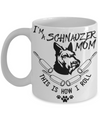 schnauzer mom coffee mug