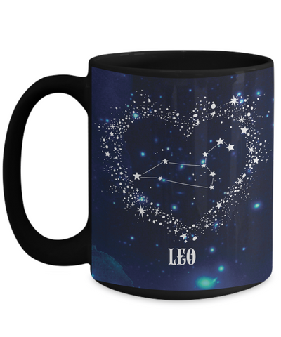 Leo Zodiac Sign Black Coffee Mug | Astrology, Horoscope