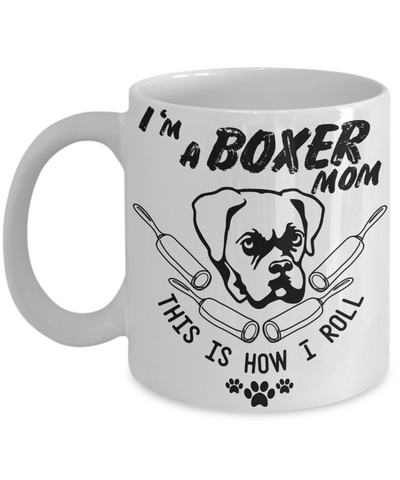 boxer mom coffee mug