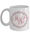 Monogrammed Wreath Coffee Mug