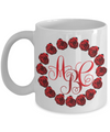 Rose Wreath Monogrammed Coffee Mug