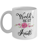 World's Best Aunt Coffee Mug | Gifts for Aunts