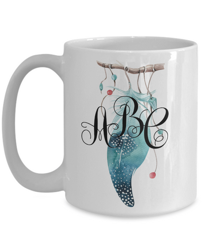 Custom dreamcatcher coffee mug