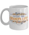 Living Grandpa Life Coffee Mug Tea Cup | Grandfather Gift Idea