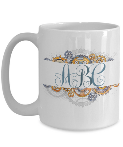 Personalized Monogram Coffee Mug | Tea Cup | Great Gift Idea for Men/Husband/Grandpa/Male