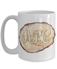 Woodworker Monogram Personalized Coffee Mug | Tea Cup | Gift Idea 15oz