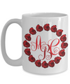Rose Wreath Monogrammed Tea Cup