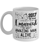 Married Most Amazing Man Alive Coffee Mug
