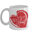 World's Best Aunt Coffee Mug | Gift Idea for Aunts | Tea Cup 11oz
