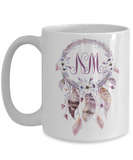 Dreamcatcher Custom Monogram Coffee Mug | Tea Cup | Great Gift Idea