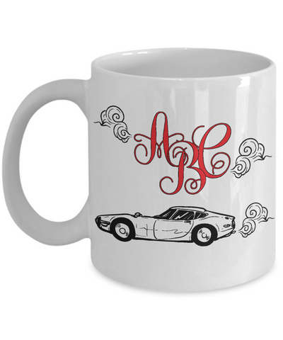 Car Personalized Monogram Coffee Mug | Tea Cup | Gift Idea for Men/Boys
