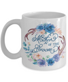 Mother Of The Groom Coffee Mug | Antlers/Wreath Flowers Blue