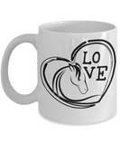 Horse Love Coffee Mug | Tea Cup | Horse Lover Gifts