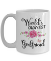 World's Okayest Girlfriend Coffee Mug Tea Cup | Girlfriend Gifts