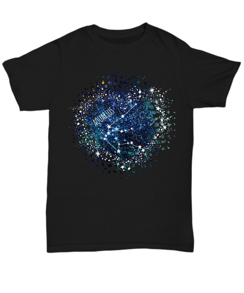 Aquarius Zodiac Sign T-Shirt front