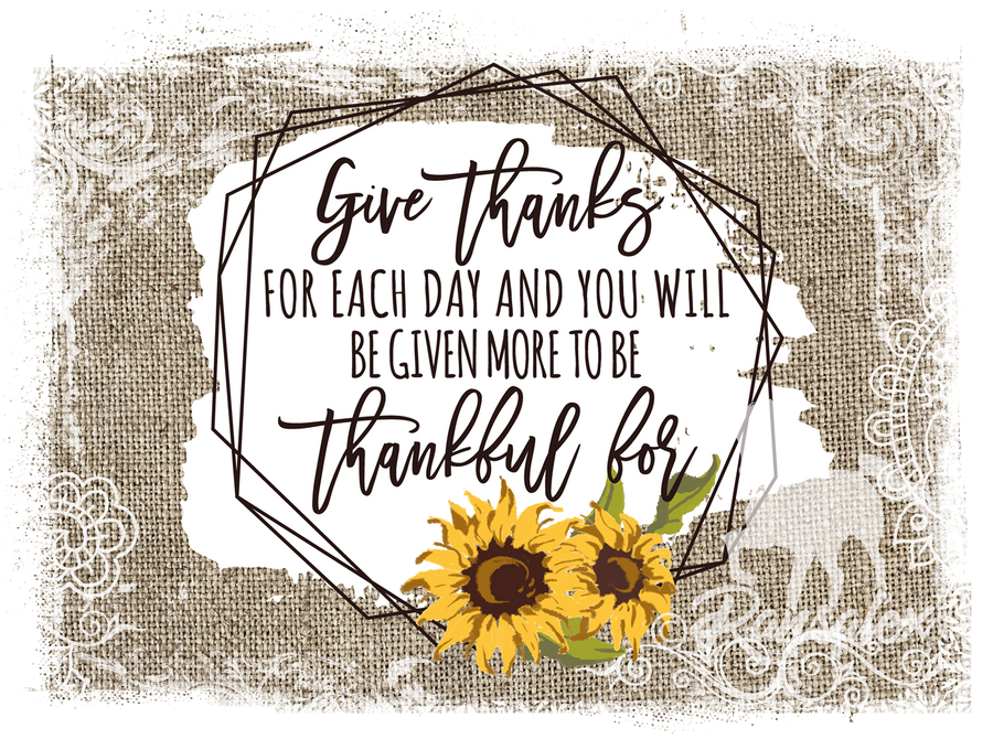 Give Thanks For Each Day Glass Cutting Board, Birthday Gifts, Mother's Day Gift, Housewarming Present