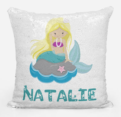 Mermaid Lover Gifts, Personalized Mermaid Gifts, Personalized Magic Flip Sequin Pillow, Mermaid Pillow Cover, Personalized Sequin Pillow, Unique Birthday Gifts, Gifts for Girls
