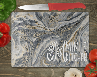 Gifts for Grandmother, Mimi's Kitchen Cutting Board, Custom Glass Cutting Board, Birthday Gifts, Mother's Day Gift, Housewarming Present, Monogram Cutting Board, Personalized Gift