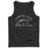 Camping Hair Don't Care Funny T-Shirt