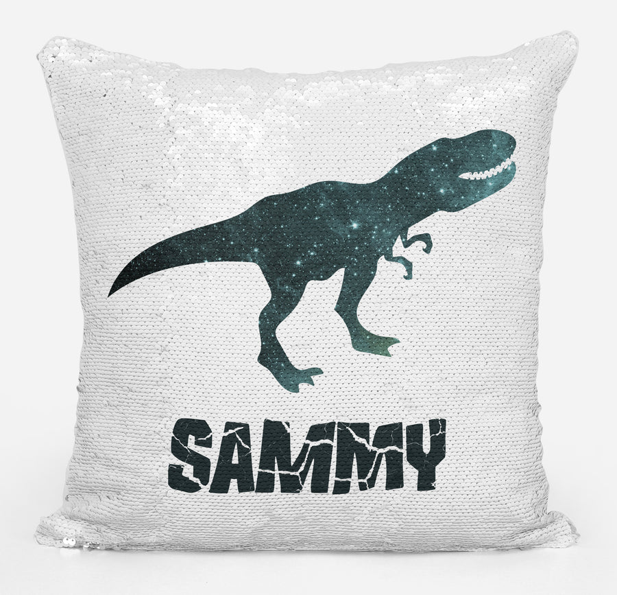 Dinosaur Lover Gifts, Personalized Dino Gifts, Gifts for Boys, Personalized Gifts for Boys, Personalized Magic Flip Sequin Pillow, Mermaid Pillow Cover, Personalized Sequin Pillow, Unique Birthday Gifts