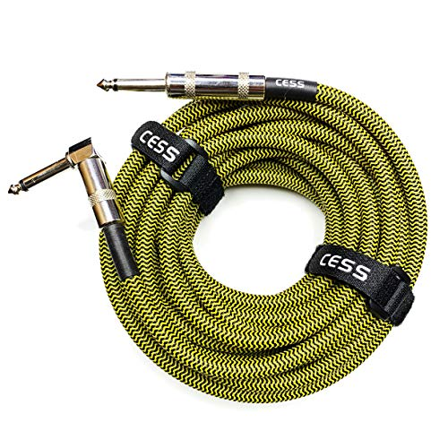CESS-016 Electric Guitar Cable 25 FT, 12 AWG, Bass Cable, 1/4 Speaker Cable
