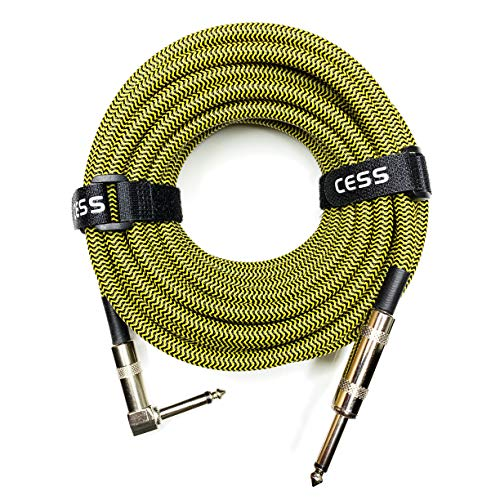 CESS-015 Electric Guitar Cable 20 FT, 12 AWG, Bass Cable, 1/4 Speaker Cable