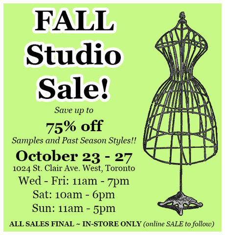 ANNUAL FALL STUDIO SALE!