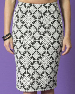 DEVI Print Pencil Skirt