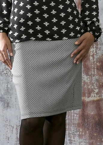 DREA Stretch Jacquard Skirt