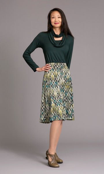 pattern 10 Panel Flip skirt with stretch waistband and top with attached infinity scarf