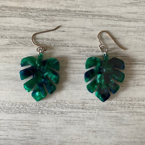 TS - Cellulose Monstera Earrings