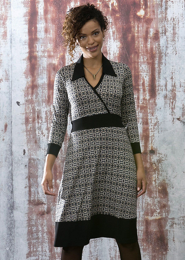 WINONA Print Faux Wrap Dress
