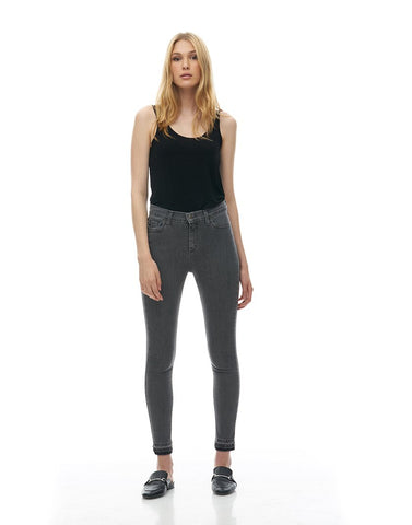 Yoga Jeans - GREY Distressed Ankle