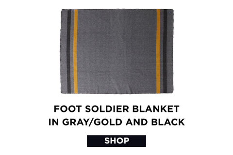 SHOP the Foot Soldier Blanket - gray/gold/black