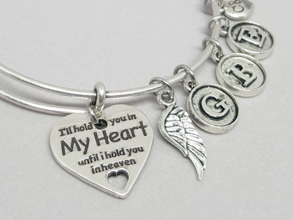 In Memory Bangle (Choose 1 to 5 Initials) - Charms & Bangles - 1