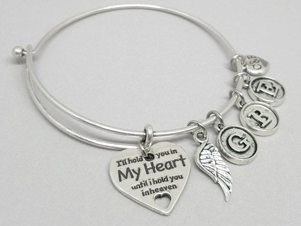 In Memory Bangle (Choose 1 to 5 Initials) - Charms & Bangles - 2