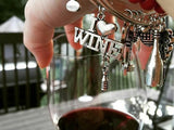 Wine Lover Bangle Bracelet 3-Pack (3 Bangles for the Price of 2) - Charms & Bangles - 5
