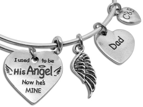 You're My Angel Now - Parent Remembrance Bangle - Charms & Bangles - 1